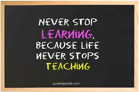 Quotes On Learning Simple Life Quote Never Stop Learning Because Life