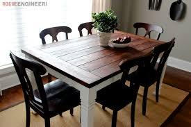 rustic dining table diy. DIY Farmhouse Dining Table Plans Rustic Diy T