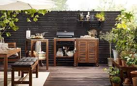IKEA cabinets in outdoor kitchen