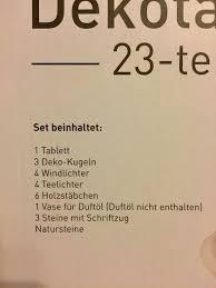 Dekotablett 23 Teilig Neu