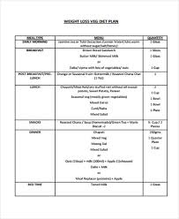 Diet Chart Template 10 Diet Plan Templates Free Sample Example Format