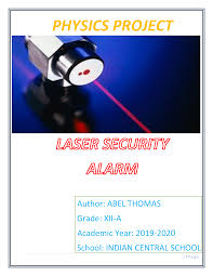 How To Make A Laser Light Security System Physics Lazer Light Security System 12th Grade Project Docsity