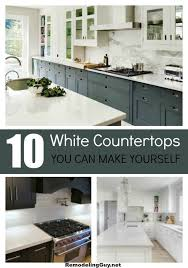 white counters diy
