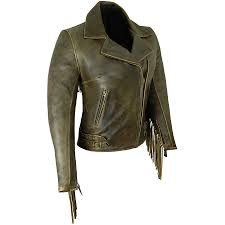 hover to zoom or to enlarge women s size chart womens elite fringed antique brown leather jacket