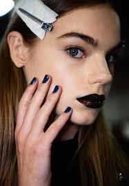 dkny spring 2017 backse makeup nails