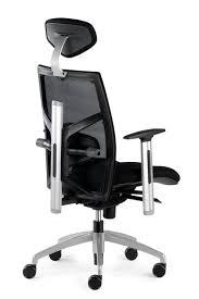Fauteuil de bureau ergonomique confortable NANTES en tissu noir