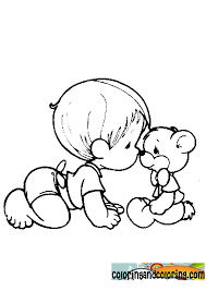 Small Picture color page of child with bear precious moments baby coloring