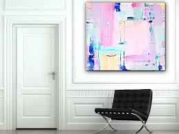 large abstract wall art pink