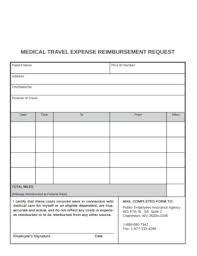Reimbursement Template Free 15 Travel Reimbursement Form Examples Templates