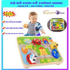 Đồ chơi gỗ thông minh KABI giúp phát triển tư duy cho bé an toàn sạch