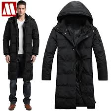 2018 men winter outdoors long trench coat down jacket thickening hooded army green parka coats free