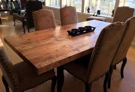 maple wood dining room table. figured maple wood farmhouse dining table room v