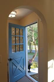 entryway with wood dutch door