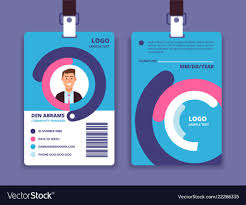 Business Id Template Corporate Id Card Professional Employee Identity