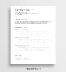 Microsoft Word Resume Template Free Free Word Resume Templates Free Microsoft Word CV Templates 69