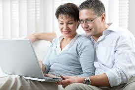 Image result for looking at a offer on the computer pic