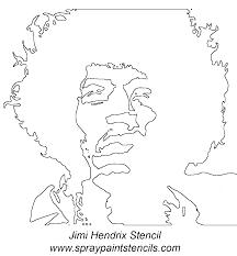 Stenciling Spray Paint Jimi Hendrix Stencil Gif 1132 X 1223 Silhouettes In 2019 Stencil