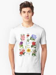 Flower Chart T Shirt Vintage Blooms Botanical Flower Floral Chart T Shirt By Desindie