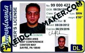 Pennsylvania Virtual Card Maker License - Driver's Id Fake