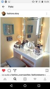 Makeup Vanity Tables, Vanity Ideas, Makeup Vanities, Makeup Rooms, Beauty  Room, Bedroom Decorating Ideas, Bedroom Ideas, Dream Rooms, Glam Room