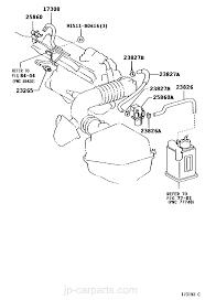 VACUUM PIPING / toyota | part list|JP-CarParts.com