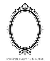 Oval frame design Mirror Oval Frame And Borders Black And White On White Background Thai Pattern Vector Illustration Shutterstock Royalty Free Oval Frame Images Stock Photos Vectors Shutterstock