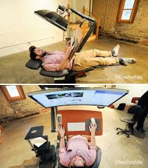 this 5 900 workstation lets you work lying down