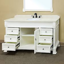 Bellaterra Home 205060 S AWHITE Bathroom Vanity Antique Single