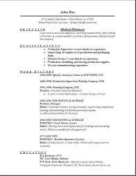 Pharmacist Resume Template Pharmacist Resume Samples Format For