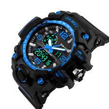 mens digital sports watch skmei mens led oversized digital stopwatch date waterproof sport wrist watch
