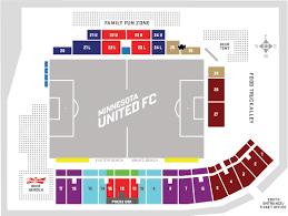 Tcf Stadium Seating Chart Mn United 36 Unbiased United Stadium Seating