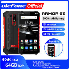 <b>Ulefone Armor 6E</b> Waterproof IP68 NFC Rugged Mobile Phone 2.4G ...