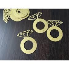 <b>Gold</b> Diamond Ring Die Cuts For Wine Glass <b>10pc</b> (Party Deco ...