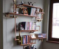 steel pipe furniture. Upcycled Industrial Shelf, Easy Steel Pipe Furniture I