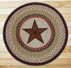 star braided jute rug round
