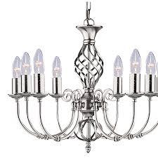 Silberner Kronleuchter Verzwirbelt Led Kerzen