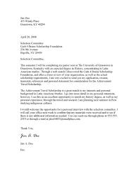 Sample Scholarship Cover Letter For Application Format Paralegal
