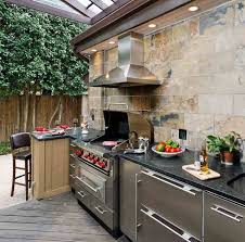 Modern Outdoor Kitchen Ideas Metal Chrome Dining Chairs Beige Mini - Modern outdoor kitchens