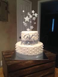 25th Wedding Anniversary Cake Silver Letthemeatcakepvilleal Let