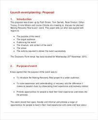 Event Proposal Pdf Adorable 44 Event Proposal Samples Sample Templates