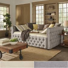 Knightsbridge Full Size Tufted Nailhead Chesterfield Daybed and Trundle by  iNSPIRE Q Artisan by iNSPIRE Q