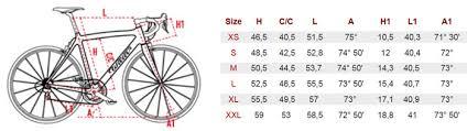 Wilier Road Bike Sizing Chart Zero 7 Frameset 2014