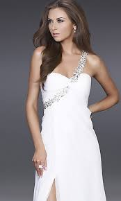 wear a white dress to the prom you must be kidding you thought you must have misheard it yes most people will recognize white as bridal color and