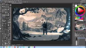 going from black and white to colour digital painting tutorial you