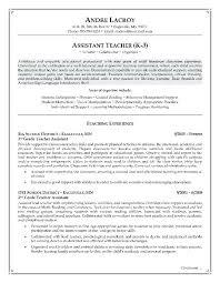 Substitute Teacher Resume No Experience Resume Samples For Teachers