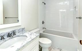 white subway tile and carrara marble bathroom counter shower home design examples