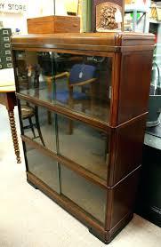 bookcases with sliding glass doors antique bookshelf