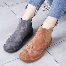 spring carved genuine leather women s boots martin