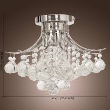 Small Crystal Chandeliers For Bedrooms Locoar Chrome Finish Crystal Chandelier With 3 Lights Mini Style