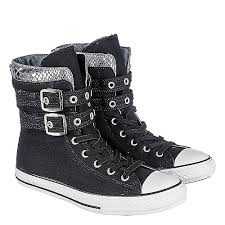converse shoes for girls black and white. converse juniors ct glendale hi shoes for girls black and white